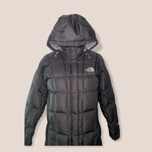 The Northface 600 Long Black Down Coat
